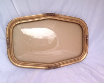 Victorian wood gold bubble glass photo frame