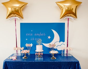 Twinkle Twinkle Little Star Themed Balloon / Wall Scrolls for a Twinkle Twinkle Little Star Birthday Party / First Birthday
