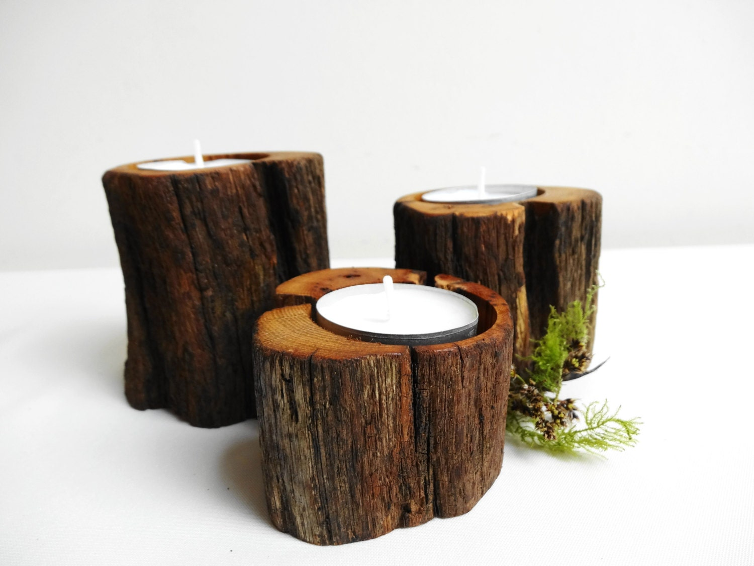 Candle holders oak wood candle holder tea light wood candle Wood candle holders