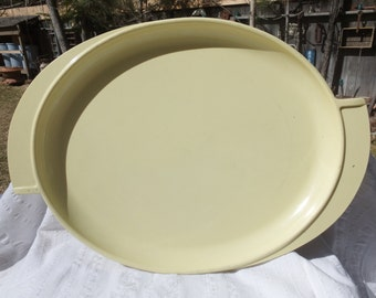 Cute and Vintage Yellow Boonton Platter Melmac/Plastic Plate