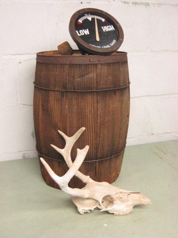 Vintage Wood Barrel Nail Keg Waste Basket By Rustbeltsanctuary