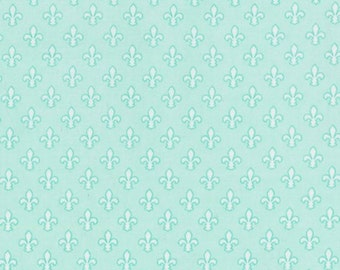 Michael Miller - Petite Fleur De Lis Item #CX6556-AQUA-D