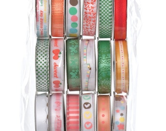 American Crafts Dear Lizzy Value Pack Premium Ribbon, Scrapbooking Supplies, Gift Wrap Supplies, American Crafts Ribbon