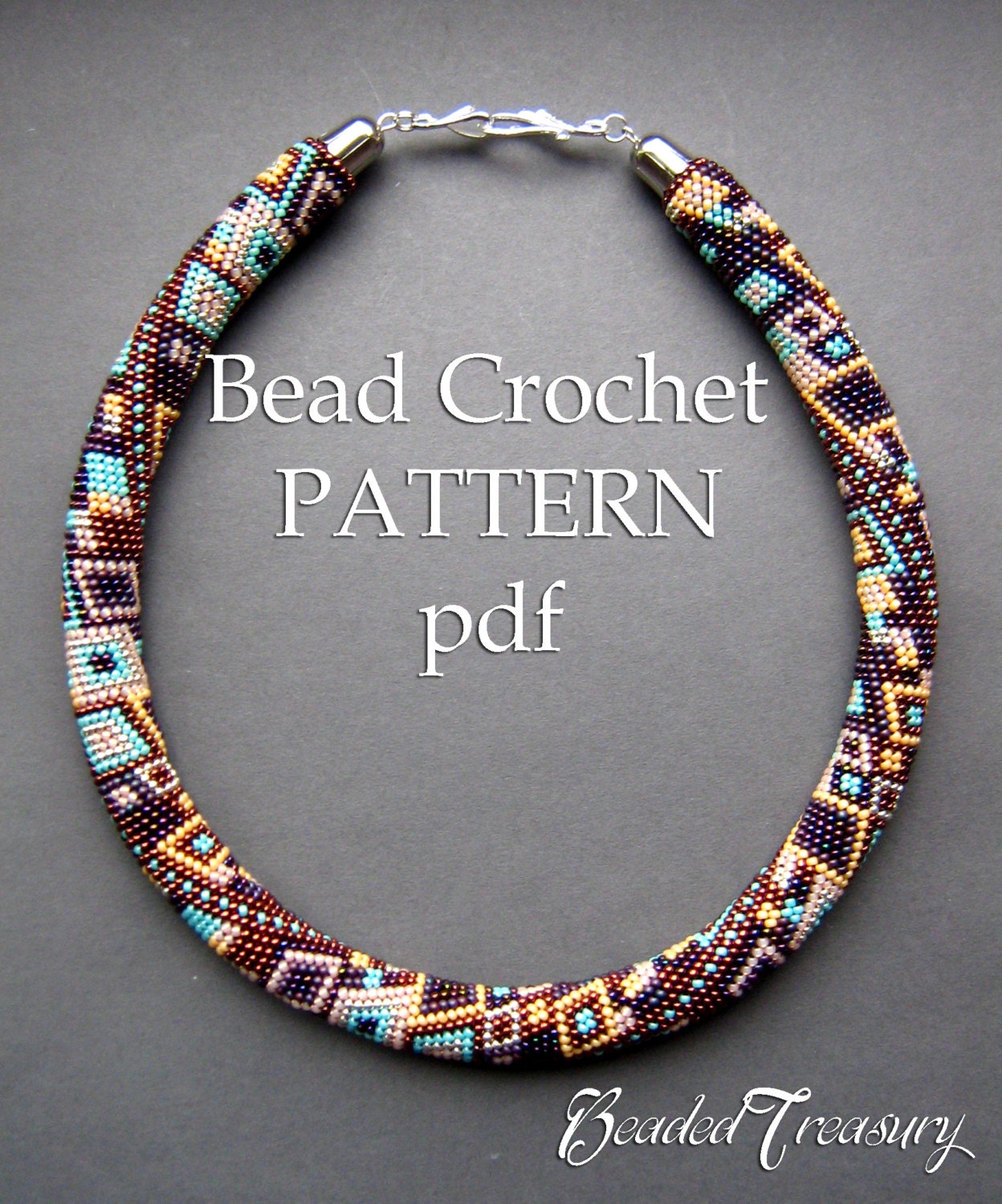 Skyscraper bead crochet pattern seed bead necklace beaded zoom bankloansurffo Image collections