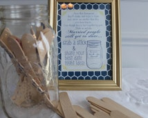 Date Night Jar Sign for Wedding or Shower, Customizable to Event Colors