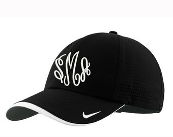 Monogrammed Nike Dry-Fit Perforated Cap - Black
