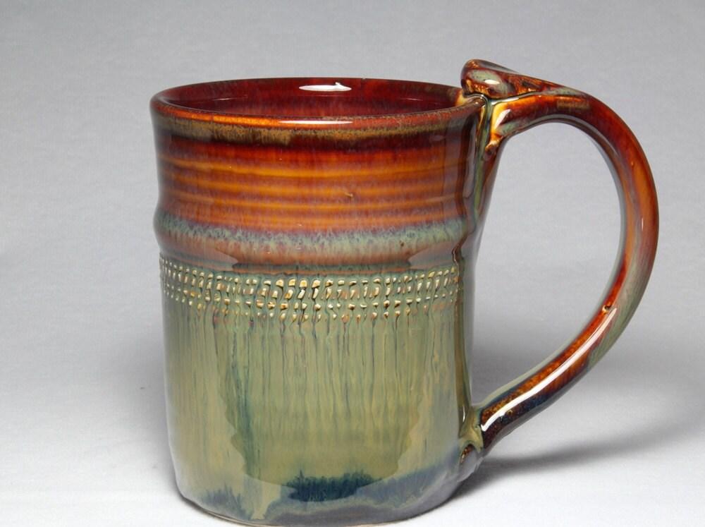 10oz Stoneware Pottery Mug Unique Coffee Mug