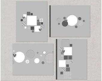 Holey Moley - 8.5x11 Digital Scrapbooking Templates