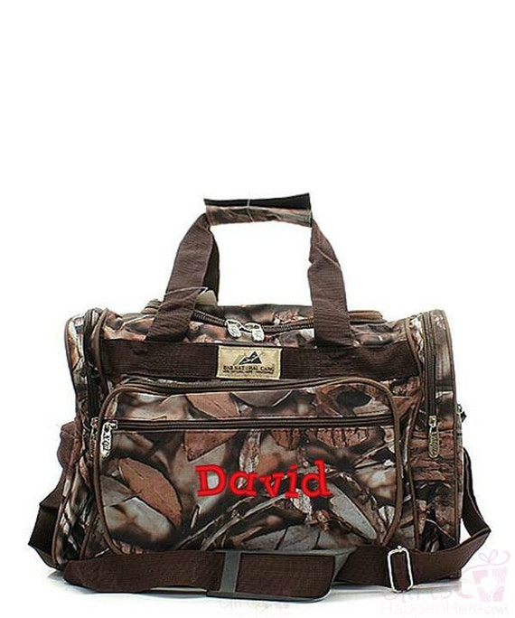 Items similar to kids duffle bag monogrammed natural camo