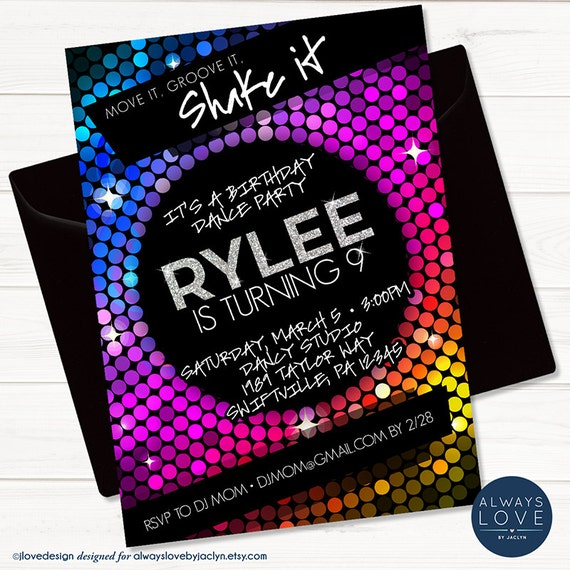 like this item - Disco Party Invitations