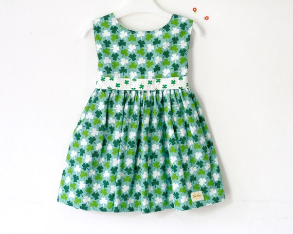 St patricks day baby dress toddler green by