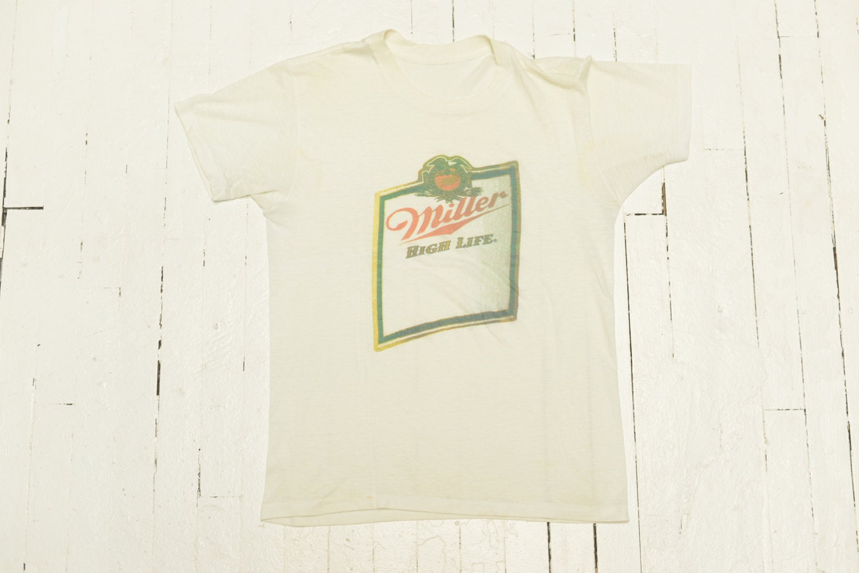 Vintage Miller High Life T Shirt Beer 1970 Men Women