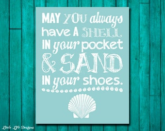 Fine Coastal Quote Etsy Largest Home Design Picture Inspirations Pitcheantrous