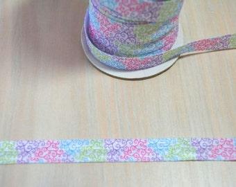 5/8 inch Fold Over Elastic, FOE - Bright Swirls