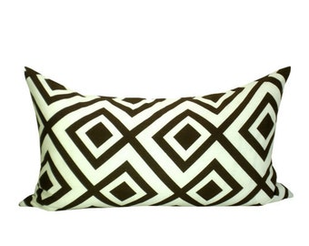 David Hicks La Fiorentina lumbar pillow cover in Ivory/Bark