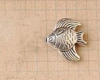 DIY 20pcs  Tibetan silver little fish  charm pendant  16x16mm