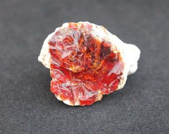 Fire Opal in Rhyolite from Mexico