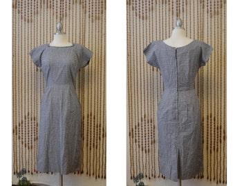 1950s Rockabilly Gingham Wiggle Dress With Matching Jacket