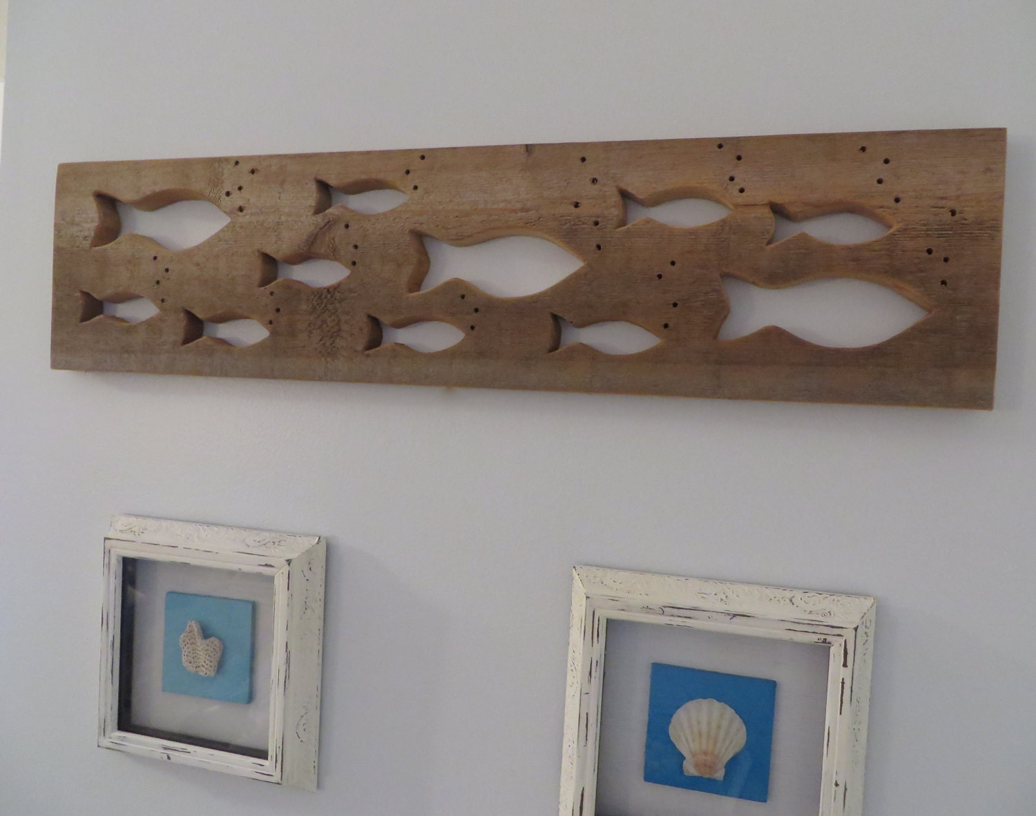 Fish Wall Decor Wood : Fish wall decor on reclaimed cedar wood board by alterednature