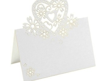 50 table cards place cards heart