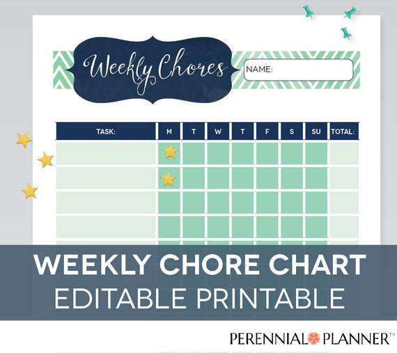 Universal image pertaining to free editable printable chore charts