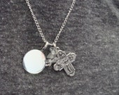 Reflections Moonstone Necklace coupled with a Four Way Cross