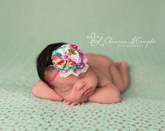 Vintage Rose Blossom Headband Floral Blossom Headband Flower Headband