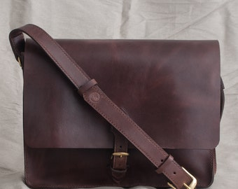 Hand Stitched Leather Laptop Bag