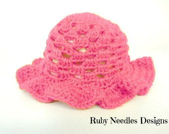 Crochet PATTERN - Tiny Sunbeams Cluster Sunhat **Crochet Pattern**