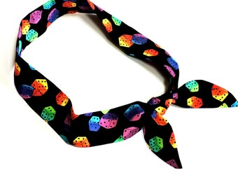 Dice Neck Cooler, Stay COOL Tie, Neck Cooling Scarf Bandana, Body Head Heat Relief Chill Wrap, Tie On Headband iycbrand