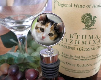 SALE! Wine Stopper with Pet Photo - Personalized Wine Stopper with Photo