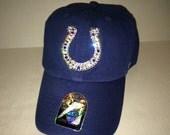 Swarovski crystal bling Indianapolis Colts adjustable hat