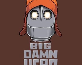 Firefly t-shirt Serenity Iron Giant BIG DAMN HERO Jayne Cobb browncoat Tshirt