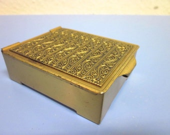 Erhard & Sons Germany Art Deco brass box for stamps rare 1930s design