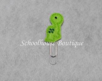Baby Dinosaur felt paperclip bookmark, felt bookmark, paperclip bookmark, feltie paperclip, christmas gift, teacher gift