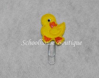 Walking Duck felt paperclip bookmark, felt bookmark, paperclip bookmark, feltie paperclip, christmas gift, teacher gift