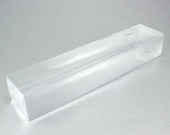 "Long Rectangular Clear Favor Boxes 9"" (pack of 12)"