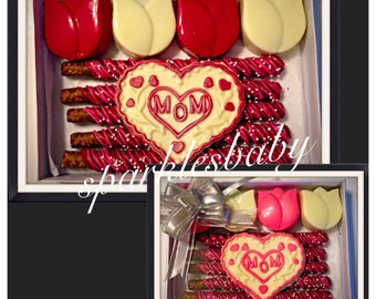 Mothers Day, Mom Gourmet Chocolate Gift Box - I love mom gift