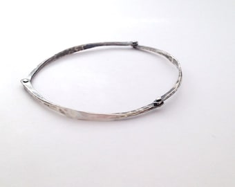 Riveted Sterling Silver Bangle