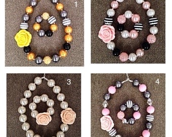 Bubblegum necklace and bracelet sets