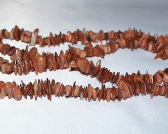 Brown Bead Shell Chips Mother of Pearl.
