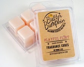 Playful Flirt Scented Wax Melts - Feminine Fragrance Wax Cubes - Valentines Day Vanilla Cotton Candy and Musk Scent Similar to Pink Sugar