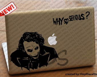 MAC MACBOOK Laptop Vinyl Decal Sticker Joker Why So Serious