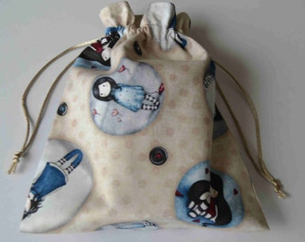Drawstring pouch/Drawstring bag/small storage bag/box lanche/for your snack/snack bag