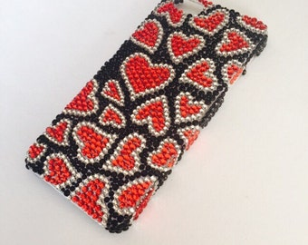 IPhone 5/5s bling case with hearts