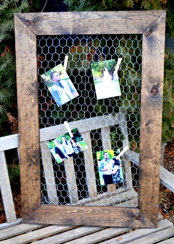 2 chicken wire frames 24x36 picture frame rustic frame rustic