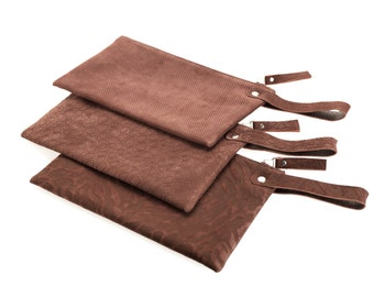 Burgundy Leather clutch, leather evening bag, medium size clutch, casual clutch, Handmade by Norman and Bella
