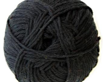 Black Knitca 100% Cotton Yarn, DK Weight Yarn