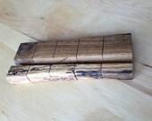 Rustic oak phone stand 1/2 inch slot