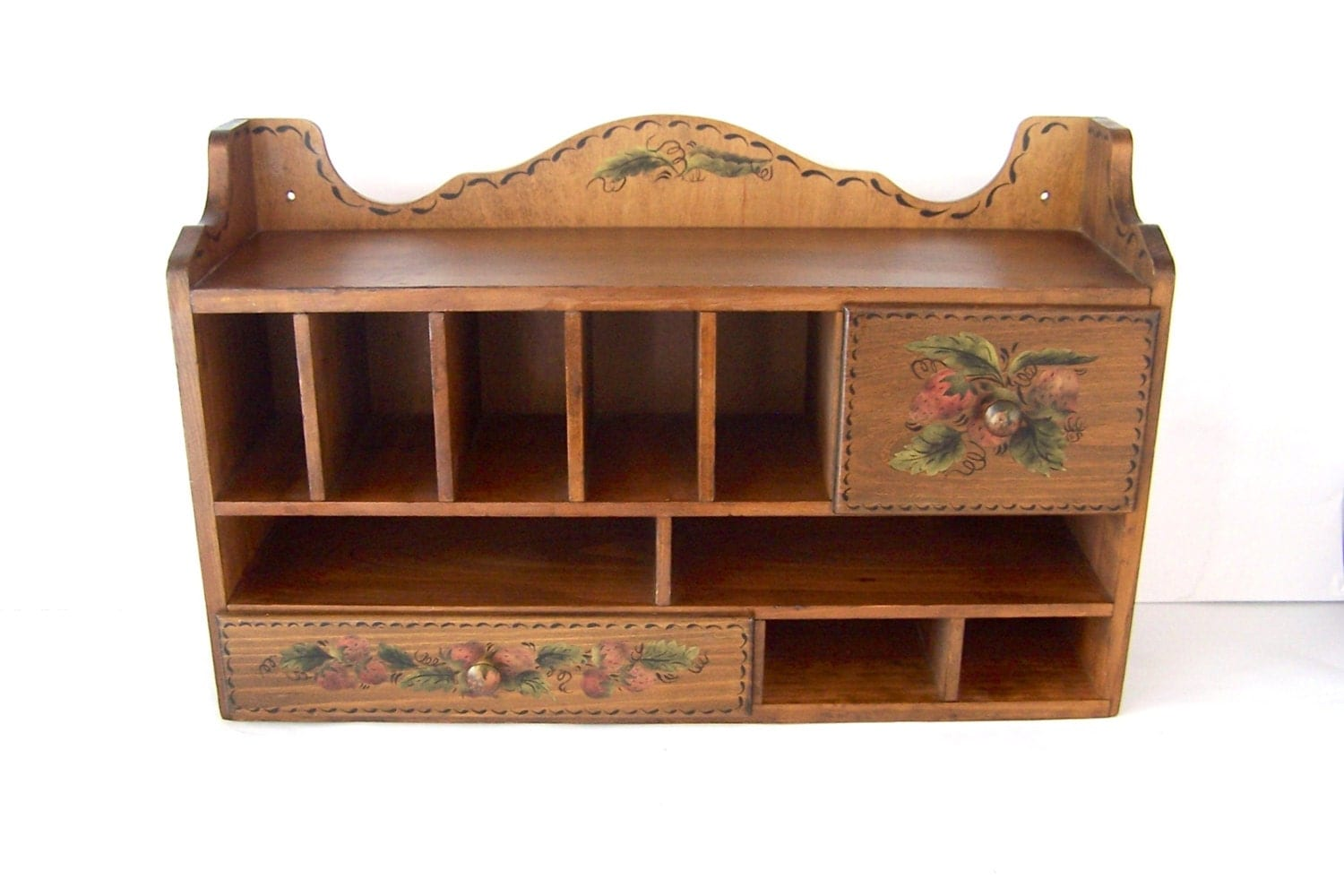 Desk organizer cubbies spice drawers letter holder kitchen - Desk organizer drawers ...